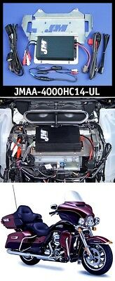 J&M JMAA-4000HC14-UL Performance Series 4-CH 400w Amp Kit 14-19 Harley Ultra/Ltd