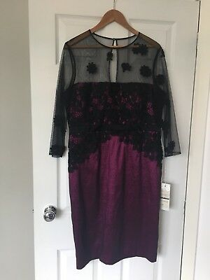 Mother Of The Bride/ Groom Dress Code By Veromia Cassis/ Black Size 18