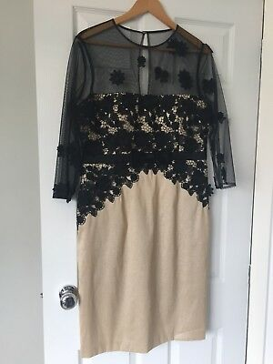 Mother Of The Bride/ Groom Dress Code By Veromia Gold/ Black Size 16