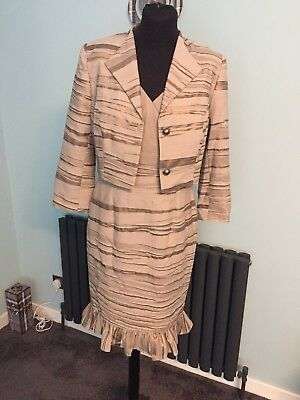 MOTHER OF THE BRIDE/GROOM DRESS AND JACKET SIZE 12 BROWN Veromia Dress Code