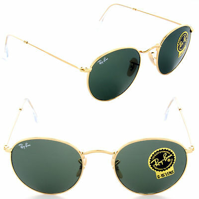 b1ac74cdc5c4b RAY BAN RB 3447 001 Gold G15 Green New Sunglasses AUTHENTIC ...