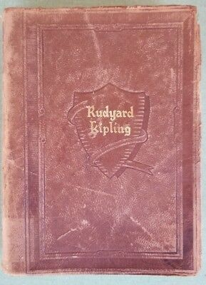Antique Book The Works of Rudyard Kipling One Volume Edition Leather Binding