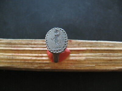 ENGRAVED MARS ANCIENT ROMAN LEGIONARY SILVER FINGER RING 1-3 ct. AD