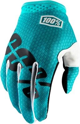 100% I-Track Mens MX Offroad Gloves Teal