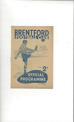 Brentford v Manchester United Football Programme 1946/47