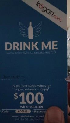 Gift card - Kogan partners naked wines $100 voucher. I have two only $60 each.