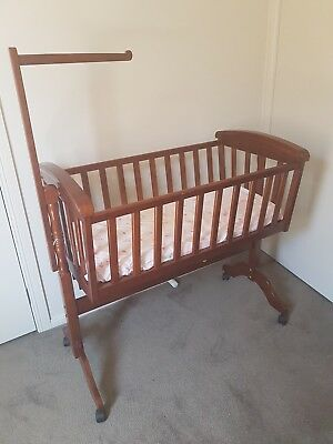 New New superior Wooden(Boori) Cradle Bassinet with Wheels