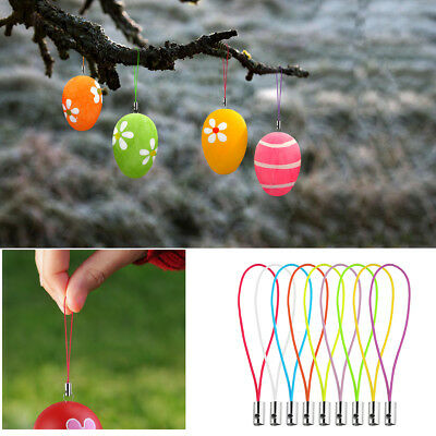 Easter Egg 100pcs Iron Wires with 100pcs Hanging Strings for Easter Decoration