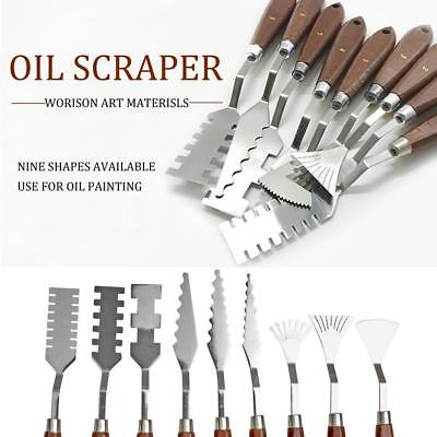 9pcs Stainless Steel Palette Knife Scraper Spatula Set for Artist Oil Painting