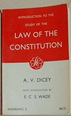 Introduction to the Study of the Law of the Constit... by Dicey, A. V. Paperback