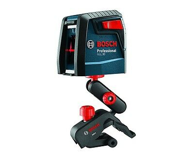 Brand New Bosch GLL 30 P Self Leveling Cross Line Laser w/ Flexible Mount Kit