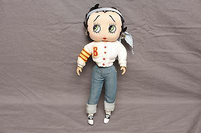 """Vintage Betty Boop Posable 12"""" Doll Figure 50's Lettermans Sweater High School"""
