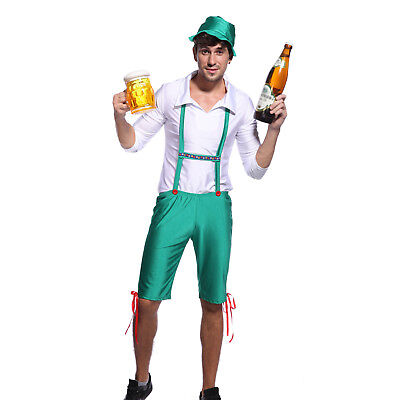 Mens Oktoberfest Beer Bottle Costume Funny Comedy Stag Outfit Party Fancy Dress