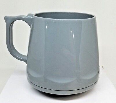 Gray Heritage Dinex Coffee Mugs Stackable Camping RV Brand New Set of 4 Grey 8oz