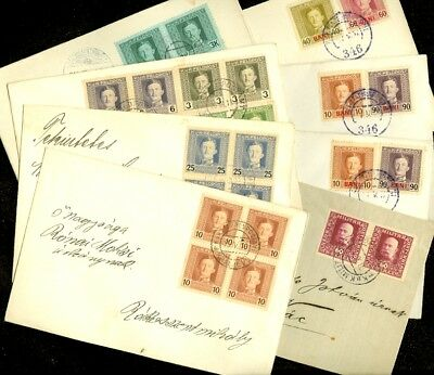 EDW1949SELL : AUSTRIA Collection as received of 7 Feldpost & 1 Bosnia Reg cover.