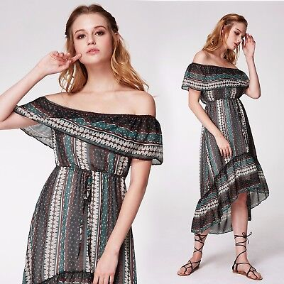 1bdea7733d9a Alisa Pan US Fashion Off-shoulder Summer Dress Beach Holiday Boho Dresses  07245