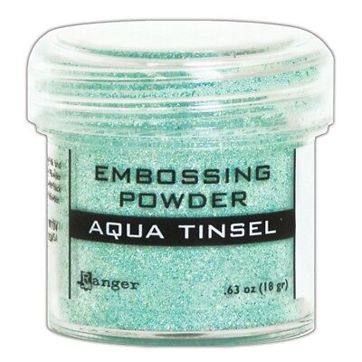 Ranger Embossing Powder 1oz. - Aqua Tinsel