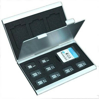 Aluminum Micro SD MMC TF Memory Card Storage Box Organizer Container Case UK*