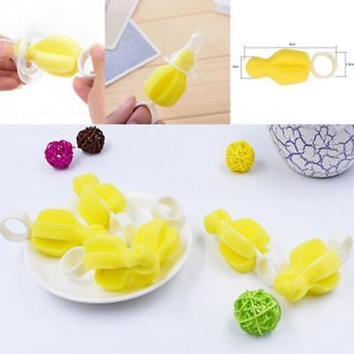 Rotate Baby Bottle Nipple Yellow Sponge Brush Teat Pacifier Cleaning360 Degrees