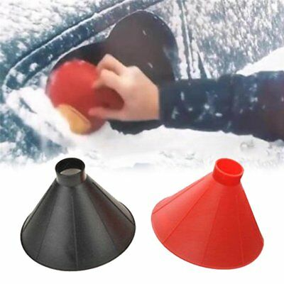 Car Windshield Ice Scraper Tool Cone Shaped Outdoor Funnel Remover Snow*
