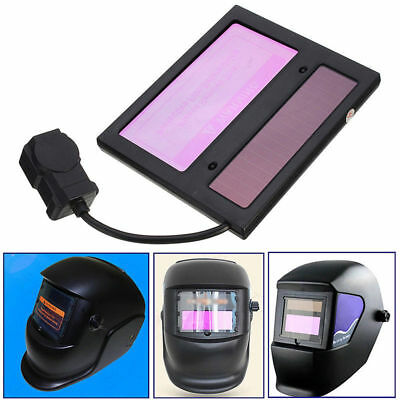 WS-1000 Solar Auto Darkening Welding Helmet Lens Automatic 110×90×10mm Black New