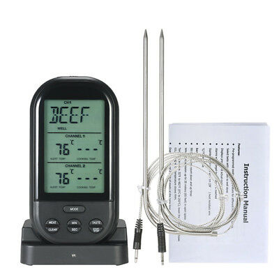 Cooking Thermometer Oven Tool Waterproof Remote BBQ Meat Wireless Grill Fashion