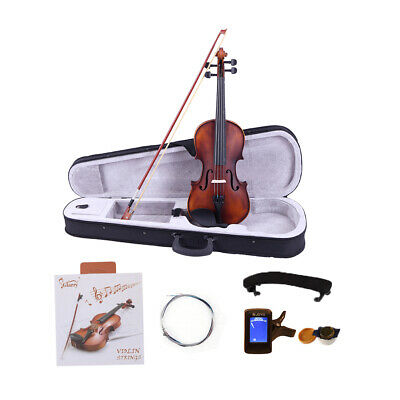 Glarry 4/4 Size Solid Wood Retro Acoustic Violin w/Case+Bow+Rosin+Tuner