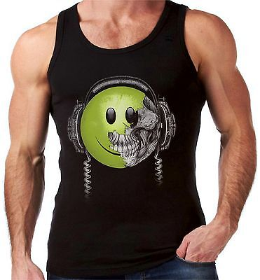 Velocitee Mens Vest Amped Up Music DJ Guitar Rock Band Heavy Metal A15034