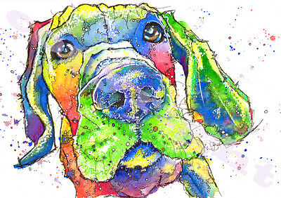 GREAT DANE Dog PRINT from ORIGINAL WATERCOLOUR Painting Picture Art by Josie P