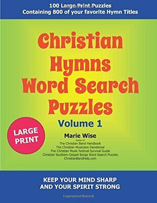 Christian Hymns Word Search Puzzles Volume 1 by Wise, Marie Book The Cheap Fast