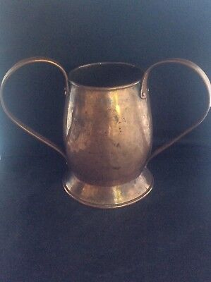 Antique c1900 Five Mile Town Irish Copper Arts & Crafts 2 Handled Loving Cup Tyg