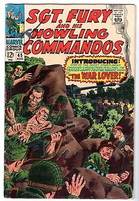 Sgt. Fury and His Howling Commandos #45 - Very Good - Fine Condition'
