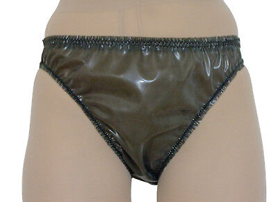 Rubber Pants Briefs Panties Knickers 4 Sizes Pure Latex Trans Grey Roleplay