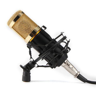 Studio Pro Condenser Microphone Recording Broadcasting Podcast MIC with Stand