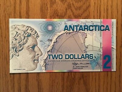 2008 Antarctica Fantasy Art Formerly Refundable $2 Note Ross Dependency