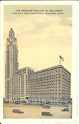 Antique Postcard The Deshler Wallick In Columbus America's Beautiful Hotel