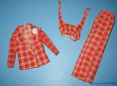 Vintage Barbie Doll Sweet 16 Outfit Red & White Plaid Sears Exclusive Circa 1974