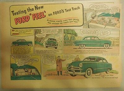 "Ford  Ad: ""Testing the New Ford Feel""  from 1949"