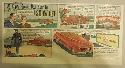 """Ford  Ad: """"Al Esper Shows Don How To Show Off""""  from 1940's"""