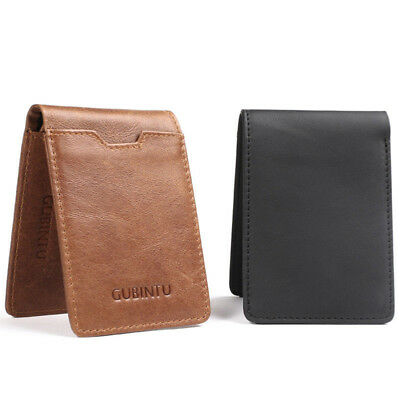 Slim Bifold Wallet Genuine Leather Money Clip RFID Blocking Thin Card Pocket CHZ
