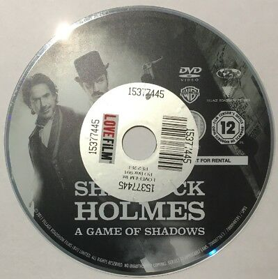 Sherlock Holmes A Game Of Shadows - Robert Downey Jr, Jude Law - DVD - Disc Only