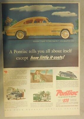 Pontiac Auto Anzeige: A Tells You All About Itself 1941! Größe: 27.9x38.1cm
