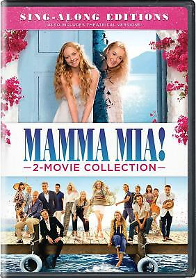 Mamma Mia + Here We Go Again 1-2 Sing Along 2 Movie Collection DVD Box Set New