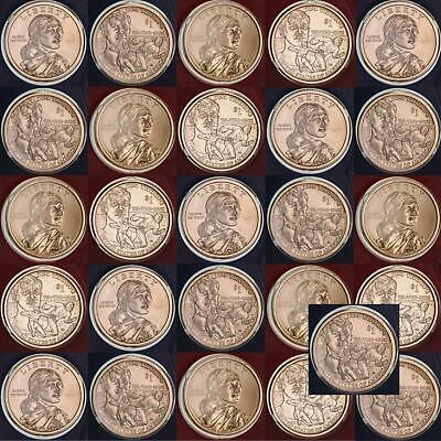 2018 P D Native American Sacagawea Dollar Mint Cello BU Roll 26 US Coin Lot