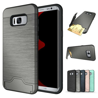 For Samsung Galaxy S8 plus Credit Card Holder Wallet Phone Case Cover