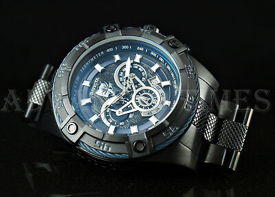 Invicta MARVEL Speedway Viper BLACK PANTHER Chrono Black Ion Plated SS Watch NEW