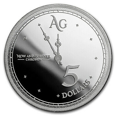 2019 Tokelau 1 oz Silver $5 Chronos (Prooflike) - SKU#180399
