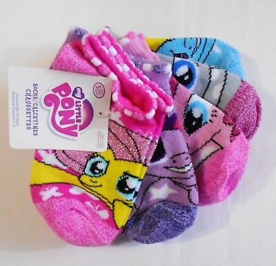 Disney No Show Ankle Socks - Girls Pack 5 Pairs - My Little Pony - 4 6 7 10 New