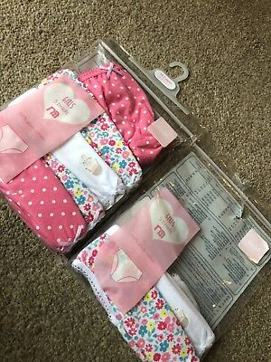Mothercare Baby Toddler Girls Pants Briefs 18-24 Months Floral Spotty 7 Pairs