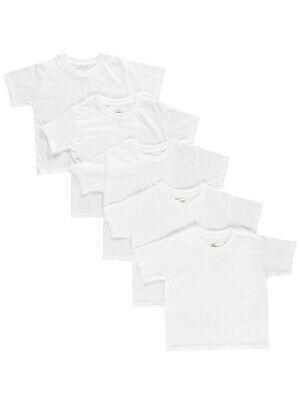 Hanes Little Boys' Toddler 5-Pack Tagless T-Shirts (Sizes 2T - 4T)